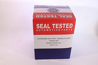 Willys Mb/Gpw Standard Military Oil Filter Seal Tested New Made