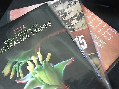 2014, 2015 & 2016 Stamp Albums Australian without stamps new original packaging
