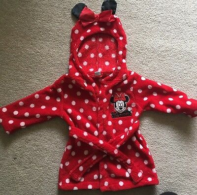 Disney Baby Minnie Mouse Dressing Gown 12-18 Months
