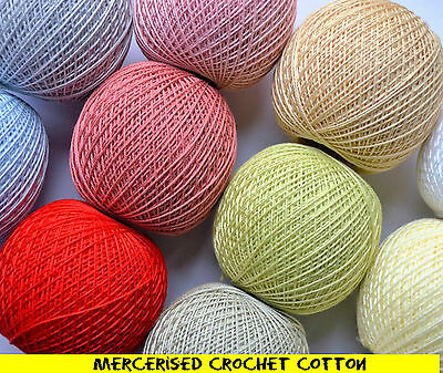 Mercerised Crochet Cotton Embroidery Thread  yarn highest quality 30g 200m ball