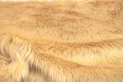 Super Luxury Faux Fur Fabric Material - LONG PILE SPECIAL BEIGE