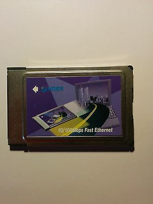 Scheda PCMCIA Unex NMD011 10/100 Mbps Fast Ethernet PC Card