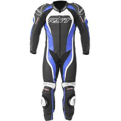 RST Tractech Evo II 2 Blue Leather One 1 Piece Motorcycle Suit All Sizes