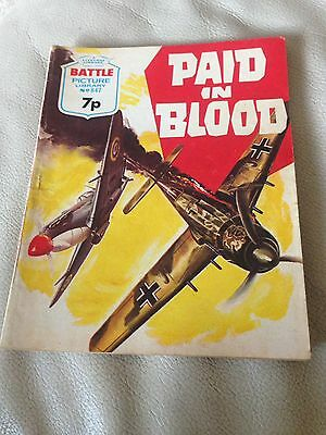 Battle Picture Library 847 Paid In Blood Bronze Age Comic 1970s