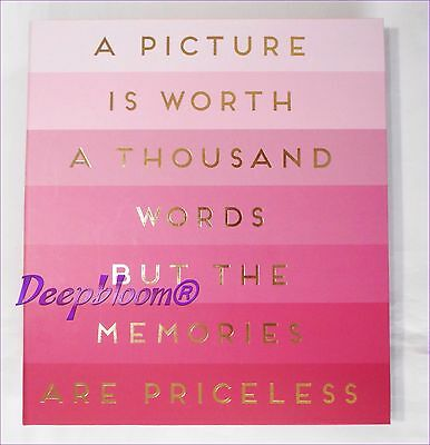 Photo Album Storage Holds 180 4 X 6 Photos - A Picture Is Worth Pink  ... New