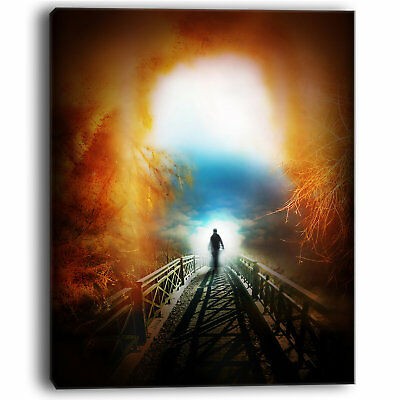 Life after Death Large Tunnel Modern Landscape Graphic Art on Wrapped Canvas