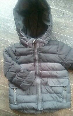 boys ZARA bubble coat age 9-12 months