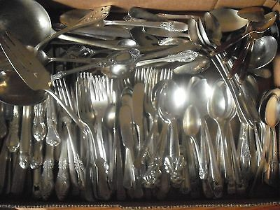 150 Pc Mixed Lot Silverplate/Antique Flatware/Serving   #120