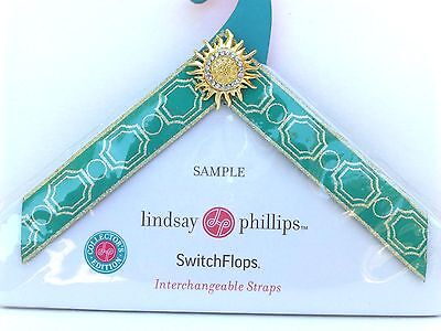 NEW Lindsay Phillips Katelyn small switchflop shoes straps multi-color set of 2