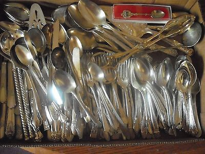 150 Pc Mixed Lot Silverplate/Antique Flatware/Serving   #124