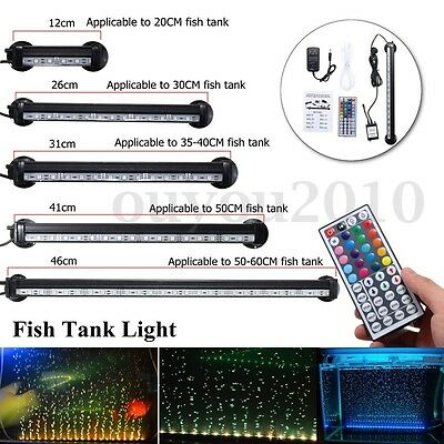 Underwater Submersible Color Changing LED Air Bubble Light Aquarium Fish Tank