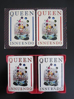 QUEEN : Innuendo PROMO Album 1991 EMI Poker Playing Cards 2 x Sealed Packs