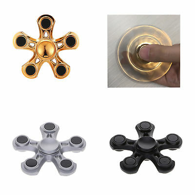 Autism Anxiety ADHD Stress Reducer Fidget Hand Five Quinary Spinner EDC