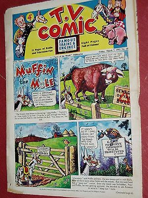 """Vintage""...T.V.COMIC...(7th March 1952)....No 18....scarce........FREE POSTAGE"