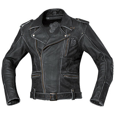 Held Hot Road Vintage Black Motorcycle Mens Classic Leather Jacket All Sizes