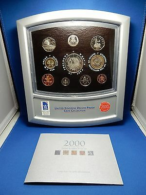 Royal Mint 2000 Proof Collection 10-Coin Set with Revolving Display