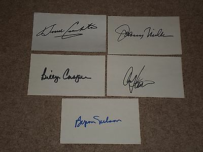 LOT OF (20) SIGNED AUTOGRAPHED INDEX CARDS  OF LEGENDARY GOLFers BYRON NELSON+