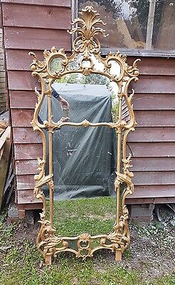 carved antique giltwood pier mirror