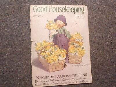 Vinta. Magazine Cover-Only/good Housekeeping/may 1929/little Dutch Girl-Flowers