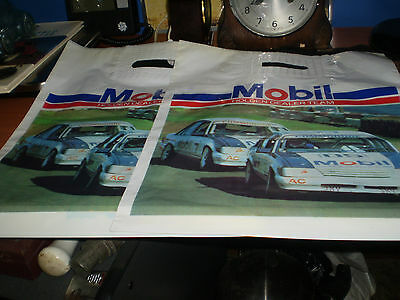 2 x NEW OLD STOCK 1984 PETER BROCK HOLDEN MOBIL HDT - HRT CARRY BAGS