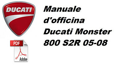 Manuale d'officina Ducati Monster 800 S2R 05-08