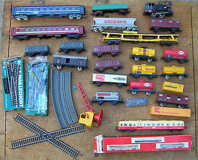 Lot Train Miniature Electrique Wagon Aiguillage Autorail Picasso Ho Jouef Lima