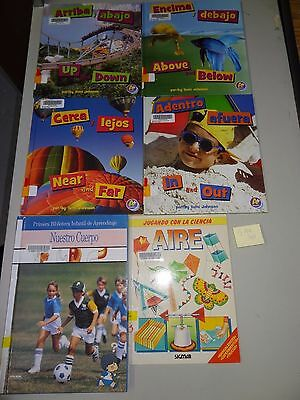 LOT: 6 Books in SPANISH About Up and Down and Other Concepts Including Science!
