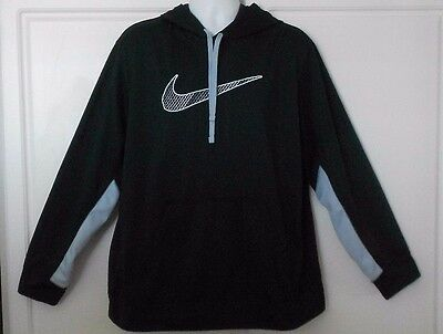 Men's Nike Therma-Fit Pullover Logo Hoodie Size XXL ~ Black & Gray ~ Nice