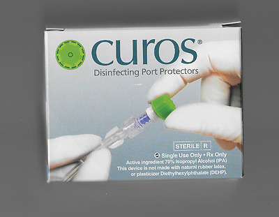 Curos Disinfecting Port Protector Luer Lock Caps Box of 270 New