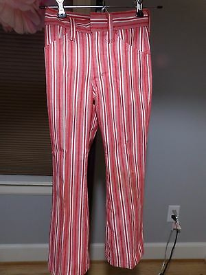MANN VINTAGE Boys MOD STRIPED PANTS!   VG cond.60's-70's red/white 21 x 19