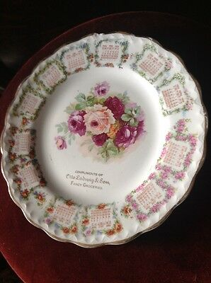 ANTIQUE 1909 ADVERTISING CALENDAR PLATE ( Otto Ludwig & Son Fancy Groceries)