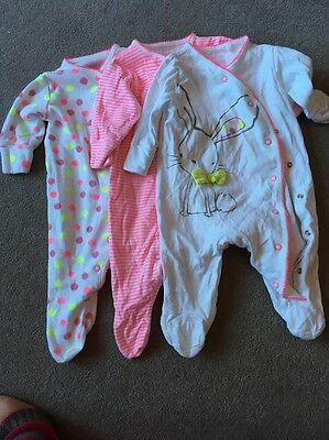 Next Girls Sleep Suits Up To 3 Months