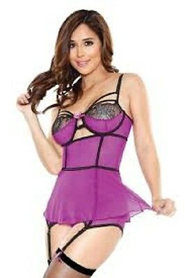 Tease Skirted Bustier Set with Detachable Garter & G-String by Fantasy Lingerie