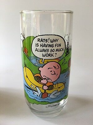 Vintage Mcdonald's Glass, Snoopy, Peanuts