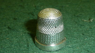 Hallmarked 1918 Solid Sterling Silver Size 5 James Swann Thimble