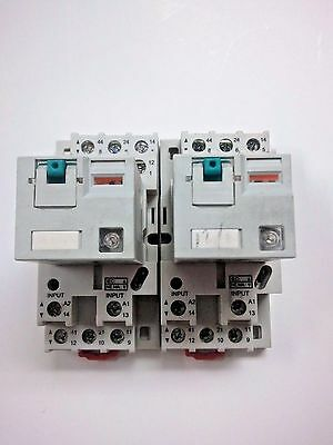 Lot Of 2 Automation Direct 783-3C-24D 24 Vdc Coil Ice Cube Relays On Bases