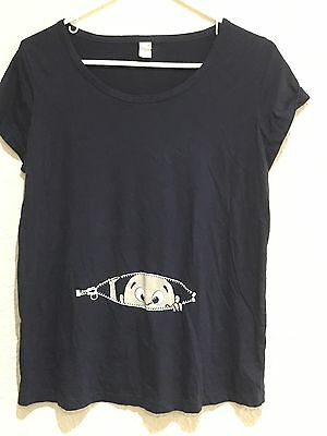 Baby Boy Peekaboo Pregnant Babies Expecting Mom Maternity Shirt Size Small