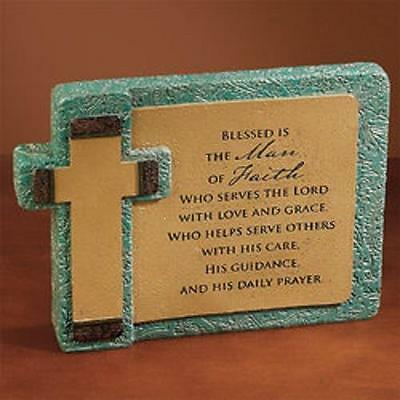 Blessed is the Man of Faith Resin Plaque Father's Day / Thank You 56926T Abbey P