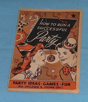 vintage 1945 MAYFLOWER DONUTS PARTY GUIDE Halloween Circus Pirate Movie Star