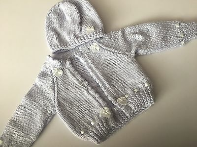 Beautiful hand knitted Cardigan and hat