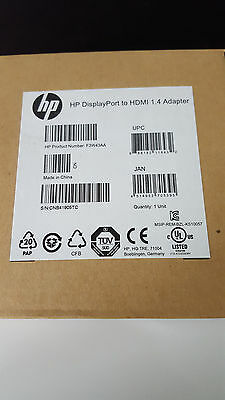 HP F3W43AA DP to HDMI 1.4 Adapter bulk lot 40 pieces