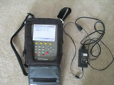 Trilithic 860DSPi Cable Meter Tester DOCSIS 1GHz DOCSIS 2.0 w Charger and access