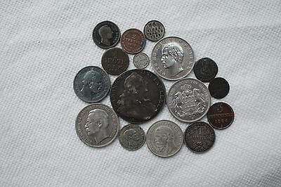 German States and Empire Silver coins, some rare items, 16 coins, from 1696-1912
