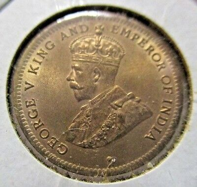 1911 Mauritius One Cent Uncirculated Condition