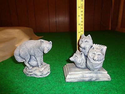 Alaska Wolf Wolves figurine Candle hand crafted Mt. St. Helens Volancic Ash