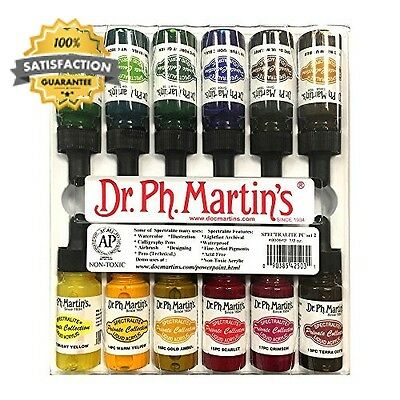 Dr. Ph. Martin s Spectralite Private Collection Liquid Acrylics, 0.5 oz, Set...