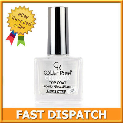 Golden Rose Top Coat Gel Look Maxi Brush Superior Gloss For Classic Nail Polish