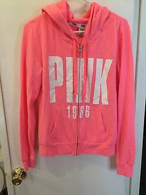 Victoria Secret Pink Full Zip Hoodie Size Small