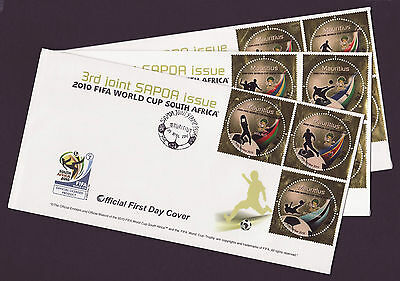 Mauritius 2010 SAPOA / Fifa World Cup, FDCs (First Day Covers)