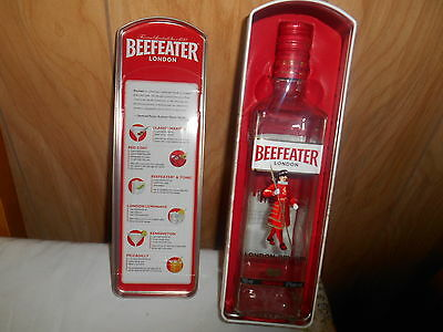 BEEFEATER  London Dry Gin Bottle (no liquor)  plus Tin!  Excellent condtion!